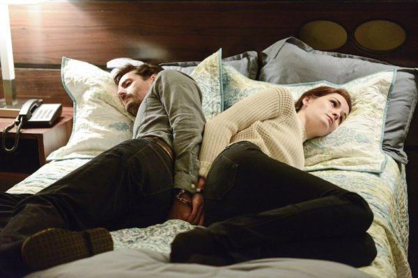 Still of Juan Diego Botto and Michelle Dockery in Good Behavior season two, episode four