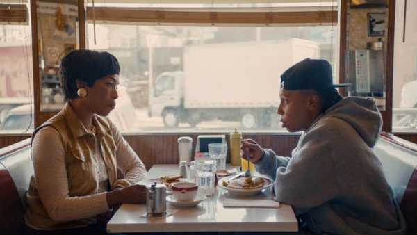Still of Angela Bassett and Lena Waithe in Master of None season two, episode 8