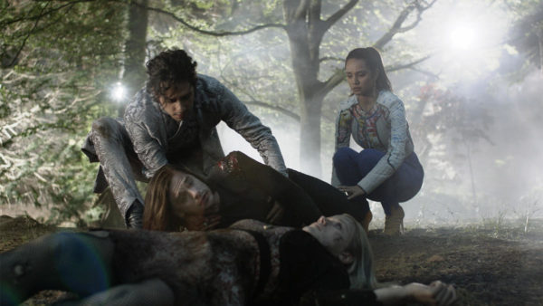 Still of Hale Appleman, Jason Ralph, Summer Bishil and Olivia Taylor Dudley in The Magicians season two, episode three