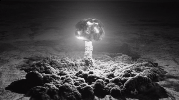 Still of an Atom bomb explosion from Twin Peaks The Return Part Eight